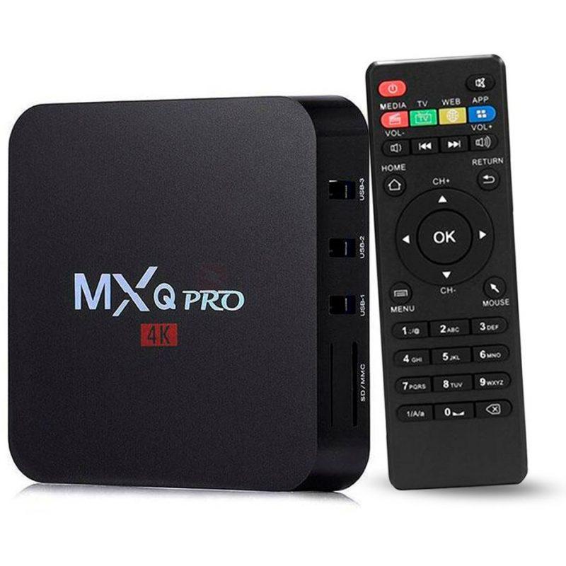 TV Box MXQ 4K Android 7.1 Quad Core 2GB 16GB HDMI WiFi Control 3