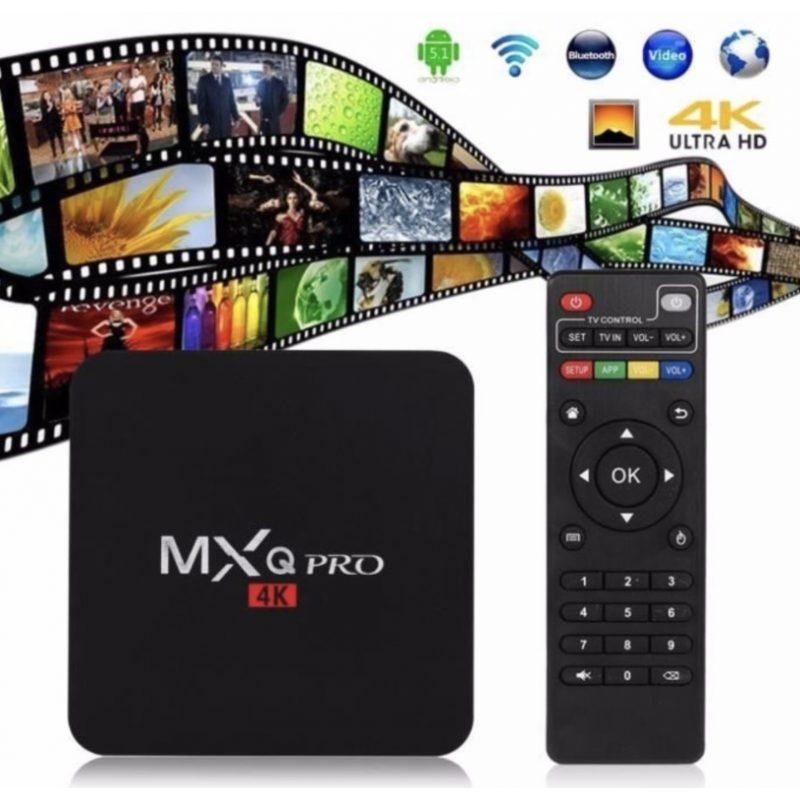 TV Box MXQ 4K Android 7.1 Quad Core 2GB 16GB HDMI WiFi Control 4