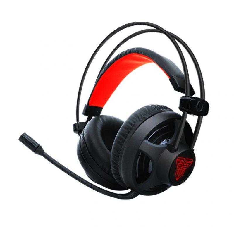 Auricular Gamer Fantech Chief HG13 Led Rojo 3.5mm+USB PC PS4 - Negro 1