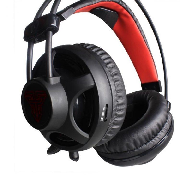 Auricular Gamer Fantech Chief HG13 Led Rojo 3.5mm+USB PC PS4 - Negro 3