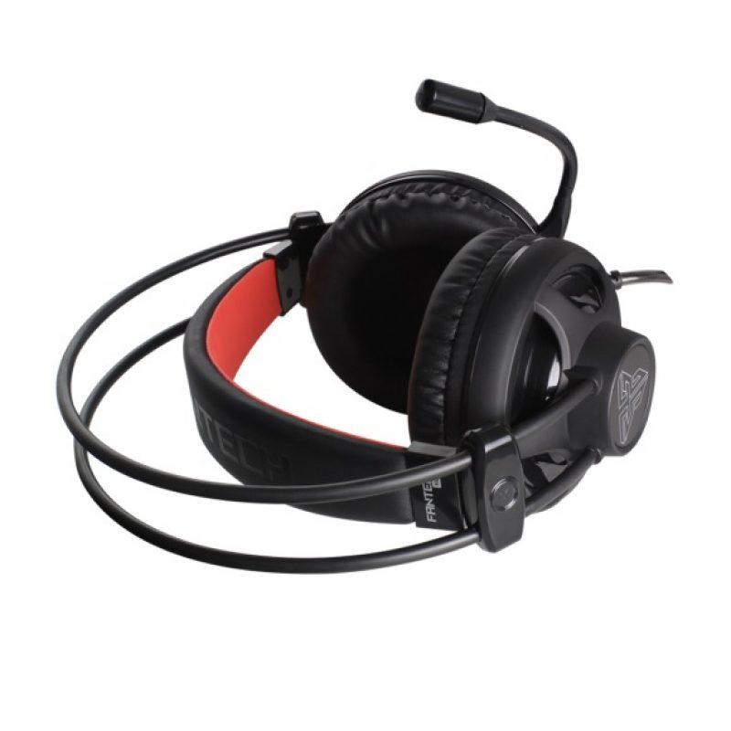 Auricular Gamer Fantech Chief HG13 Led Rojo 3.5mm+USB PC PS4 - Negro 4