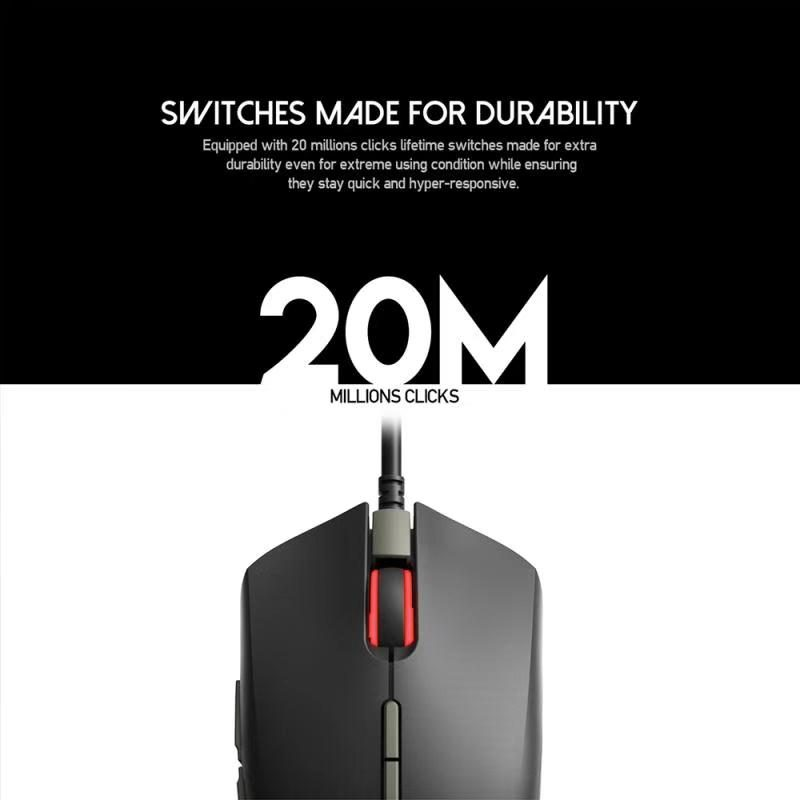 Mouse Gamer Fantech Blake X17 RGB 7 Botones Sensor PixArt 3325 4