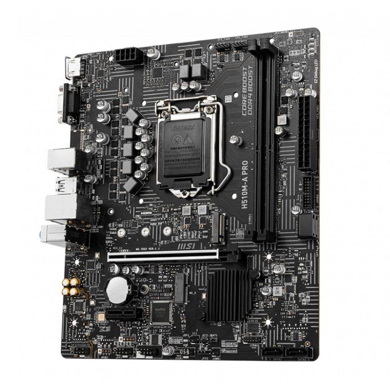 Motherboard MSI H510M-A Pro Series Socket LGA 1200 para INTEL Generación 10 y 11 2