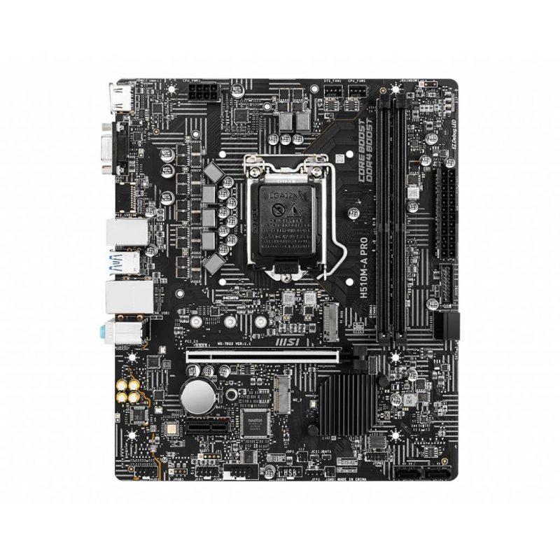 Motherboard MSI H510M-A Pro Series Socket LGA 1200 para INTEL Generación 10 y 11 4
