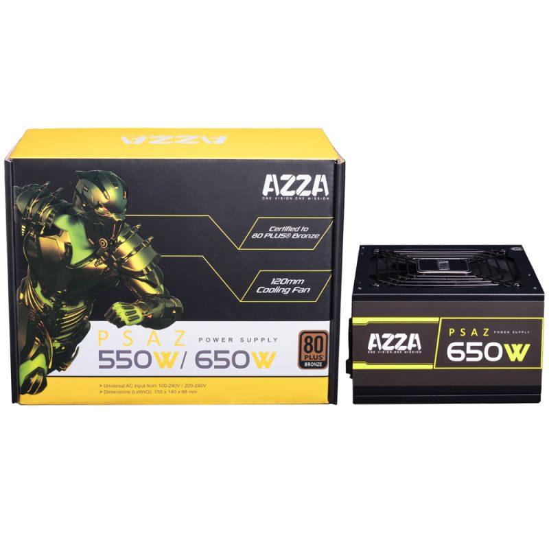 Fuente AZZA PSAZ-650W para PC 650w Reales 80 Plus Bronze 2