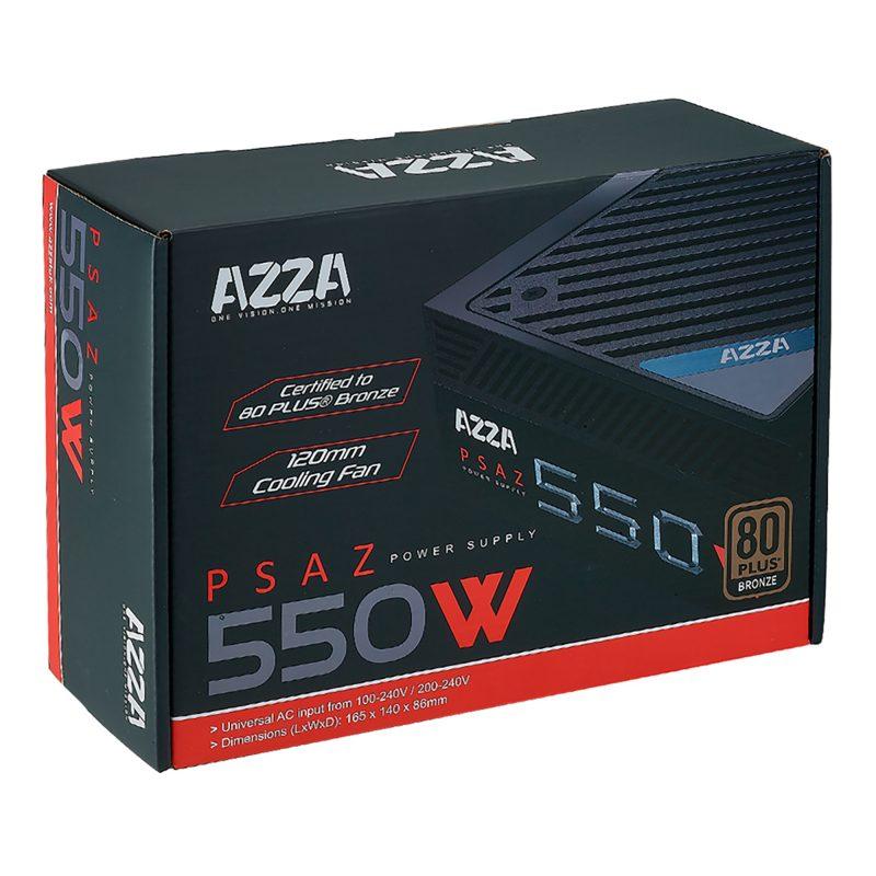 Fuente AZZA PSAZ-550W para PC 550w Reales 80 Plus Bronze 3