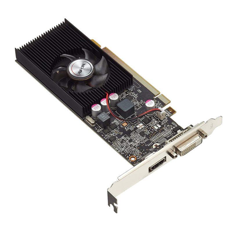 Tarjeta de Video Afox GT1030 2GB DDR5 128-bits PCI Express C/Bajo Perfil 1