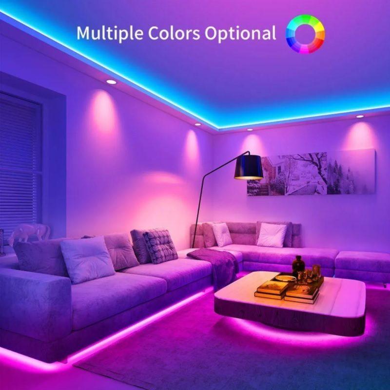 Rollo Cinta de Tiras LED RGB 5 Metros de largo con Transformador y Control remoto (Modelo 5050) 3