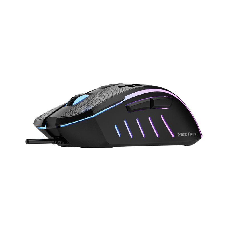Mouse Retroiluminado Diseño Panal Gamer Meetion GM015 RGB Ergonómico PC PS4 4
