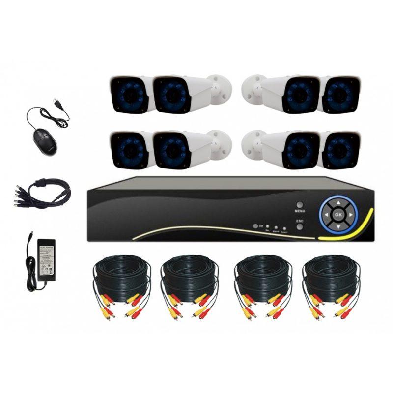 Kit Camaras de Seguridad DVR OFX-Pro OFX-N308KIT 8 Cam Alta Definición HD 1mp 2