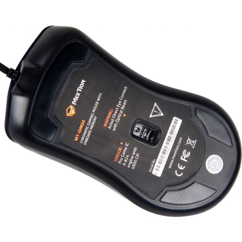 Mouse Retroiluminado Gamer Meetion MT-GM20 RGB Ergonómico 4